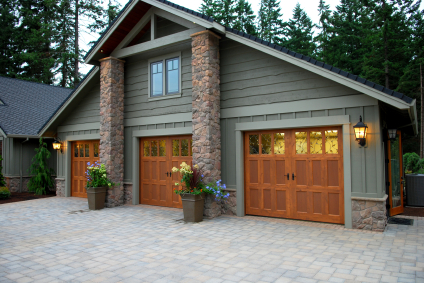 Handcrafted Wood Garage Doors.