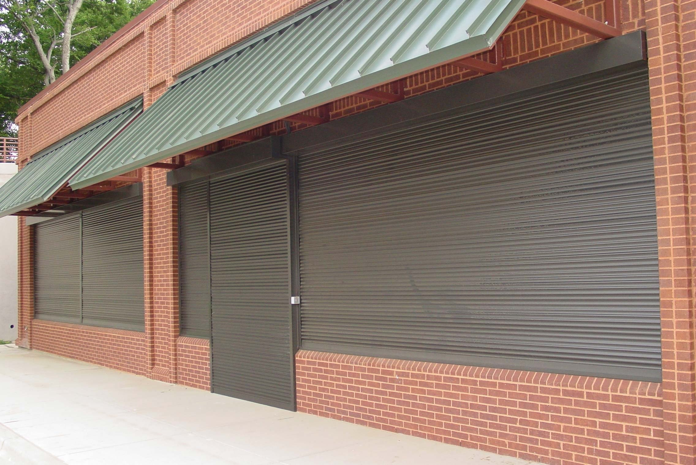 Store Exterior with Rolling Security Shutters.